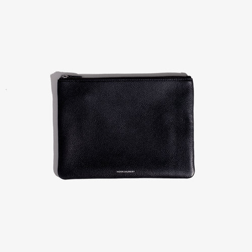 Black Leather Organization Pouch - Large