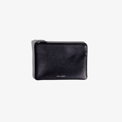 Black Leather Organization Pouch - Medium