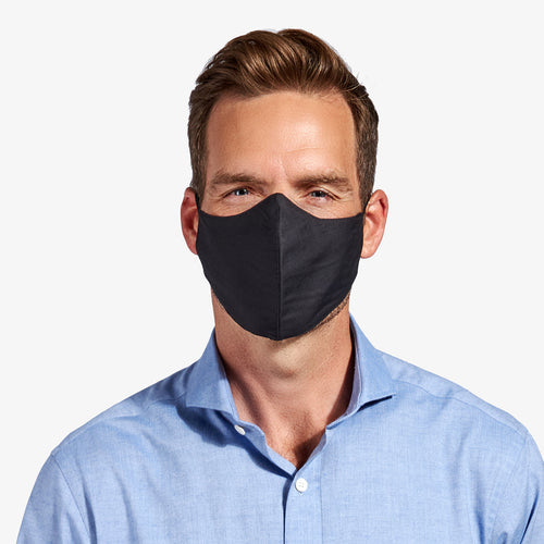 Black 3-Layer Nano-Guard Mask (4 Pack) - LARGE