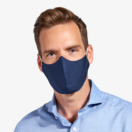 Navy 3-Layer Nano-Guard Mask (4 Pack) - LARGE