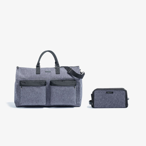 Men's Melange Garment Weekender + Dopp Kit