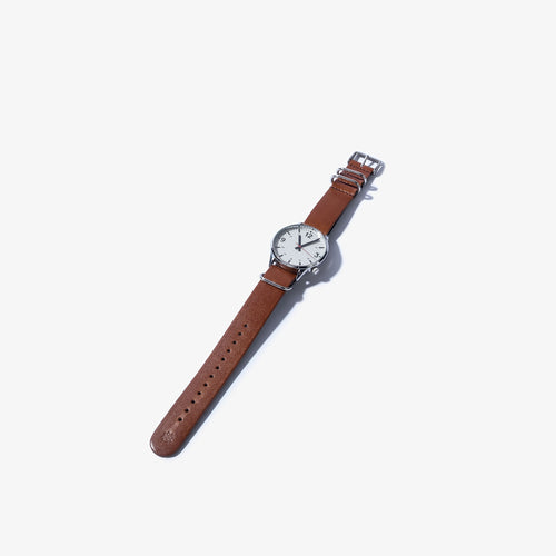 20mm Light Brown & Dark Brown Leather Nato Watch Strap