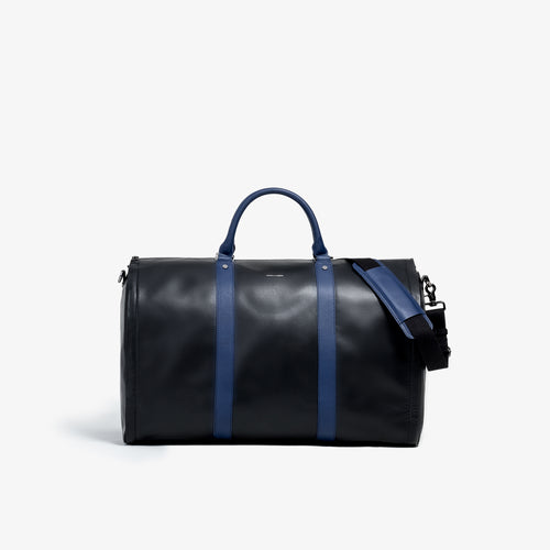 Men's Black and Blue Garment Weekender Bag