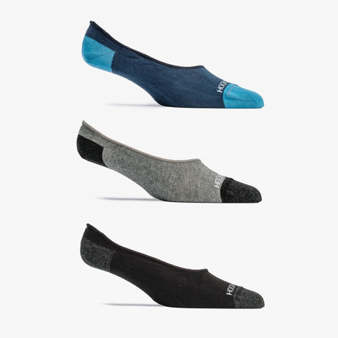 No Show Sock 3 Pack - Black, Navy, Gray