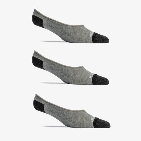No Show Sock 3 Pack - Gray