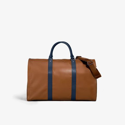 Men's Caramel & Navy Pebbled Leather Project 11 Bag