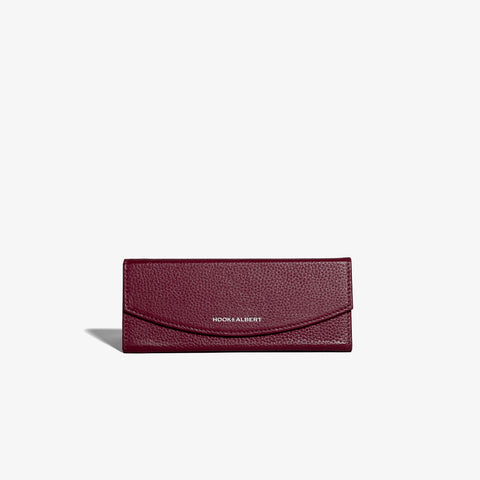 Bordeaux Leather Collapsible Glasses Case