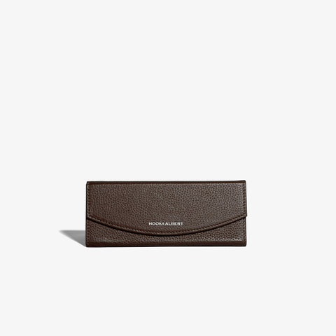 Brown Leather Collapsible Glasses Case