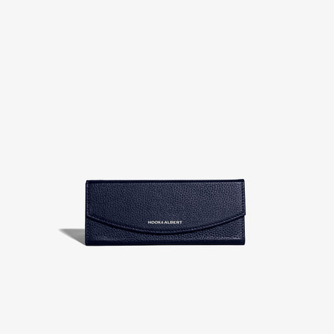 Navy Leather Collapsible Glasses Case