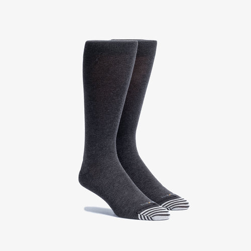 Solid Charcoal Mid-Calf Dress Sock