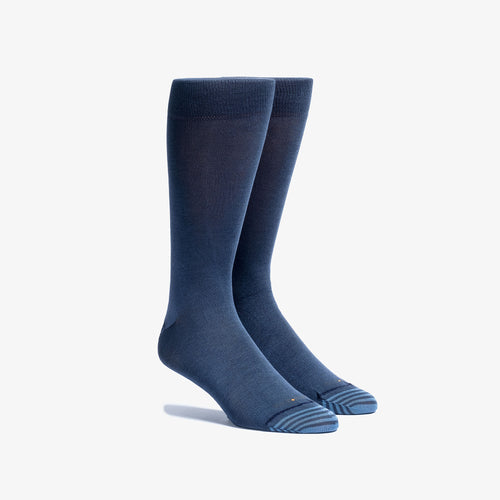Solid Navy Mid-Calf Dress Sock