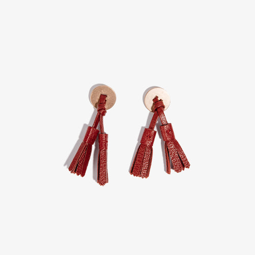 Colored Loafer Tassels - Red