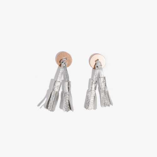 Colored Loafer Tassels - Silver