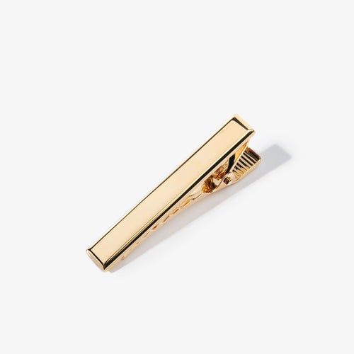 Gold Beveled Edge Tie Bar