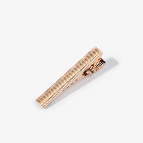 Rose Gold Hatch Marks Tie Bar
