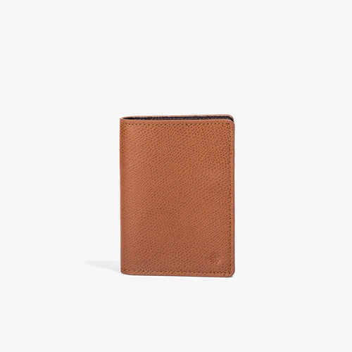 Brown Leather Vertical Bifold Wallet