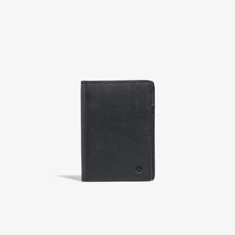 Black Vertical Bifold Wallet