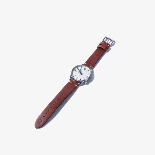 20mm Brown Vintage Leather Watch Strap