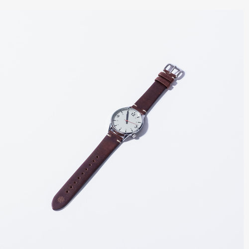 20mm Dark Brown Vintage Leather Watch Strap