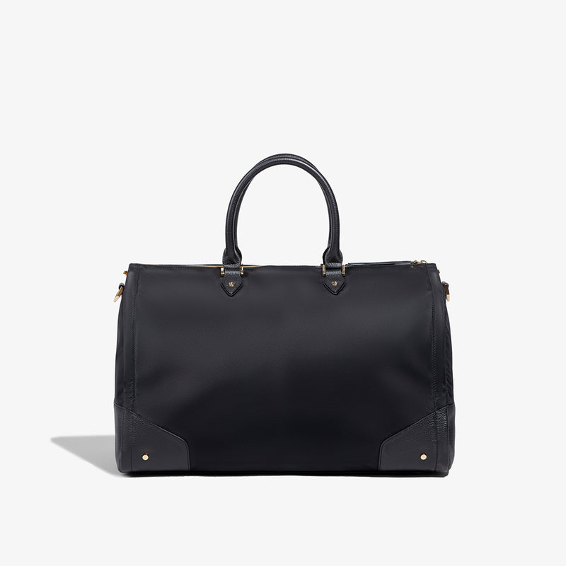 Women's Black Nylon Garment Weekender Bag