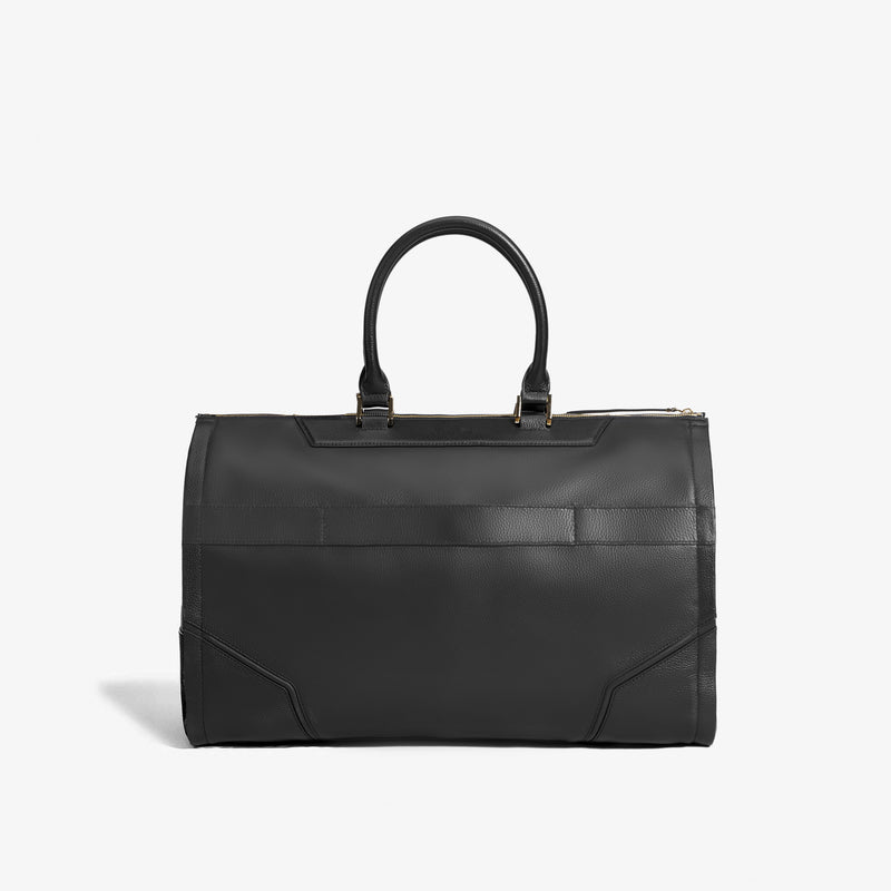 Women's Leather Garment Weekender Bag