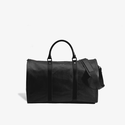 Men's Black Pebbled Leather Project 11 Bag