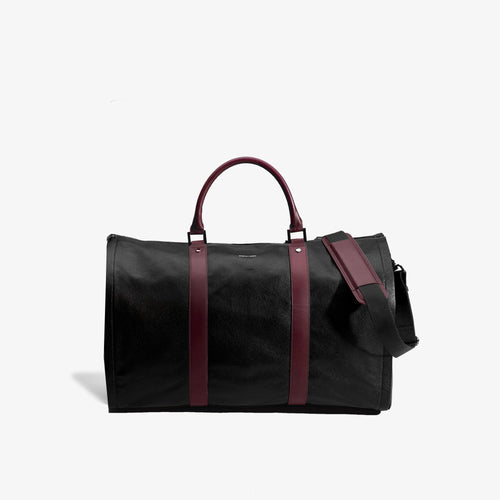 Men's Black & Bordeaux Pebbled Leather Project 11 Bag - Sample Sale