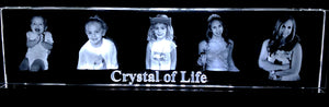 10 Inch Crystal of Life - 3d images lasered inside optical crystal