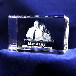 "RECTANGULAR LANDSCAPE CRYSTAL 3""x2""x2"""
