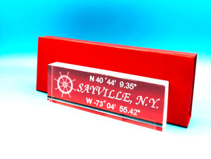 "NAME PLATE 6""  with your Town and Coordinates"