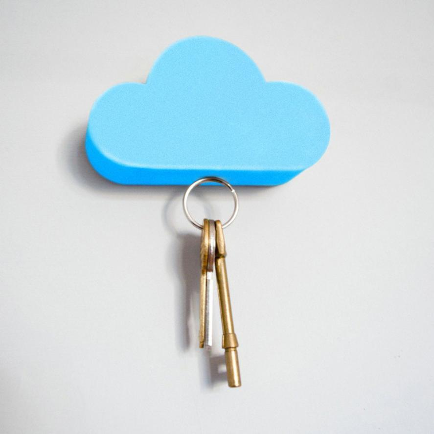 White Cloud Magnetic Key Holder