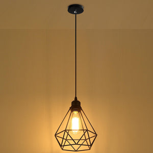 Vintage Diamond Cage Lamp