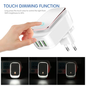 LED Night Lamp Wall Charger