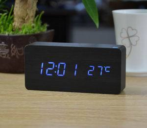 LED Wooden Alarm Clock