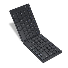 Leather Portable Folding Bluetooth Keyboard