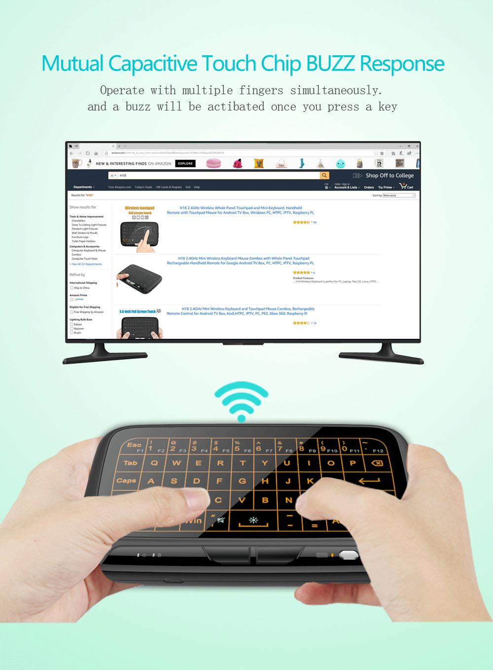Full Touchpad Wireless Keyboard