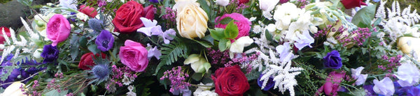 Colourful Funeral Flowers