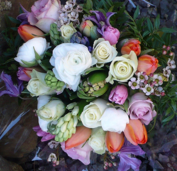 Multicoloured Spring Posy