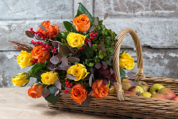 Winter Shades of Oranges and Yellows -  Hand Tied Bouquet