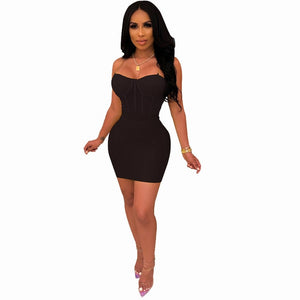 Spaghetti Straps Sheer Mesh Two Piece - Layon&Loli