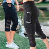 Pants Capri Pant Sport leggings Women Fitness Gym High Waist - Layon&Loli