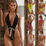 Sexy Summer Swimsuit Women Fashion Bandage Jumpsuit - Layon&Loli