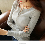 2019 Fashion Winter Women Solid Long Sleeve White Shirt Sweater - Layon&Loli