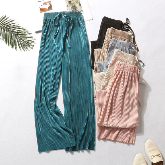 Women Pants High Waist Casual Concise All-match Summer Slacks Pants - Layon&Loli