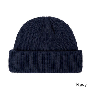 Unisex Winter Hat Cuffed Cib Knit Hat Short Melon Skin Beanies Autumn Winter - Layon&Loli