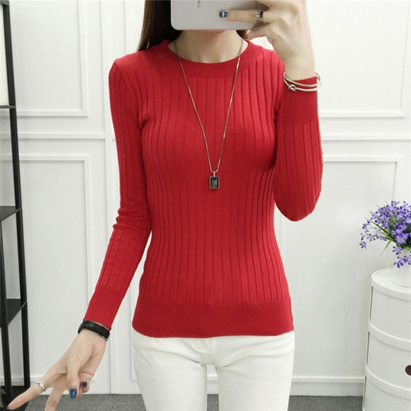 2019 Women Sweater Autumn Winter High Elastic Turtleneck  Lady Slim Sexy Sweaters - Layon&Loli