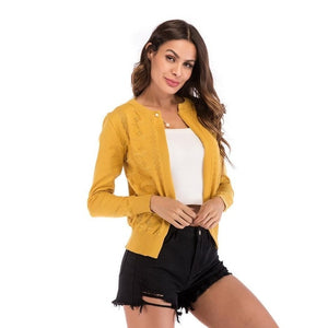 Casual knitted Cardigan Sweater Women 2019 - Layon&Loli