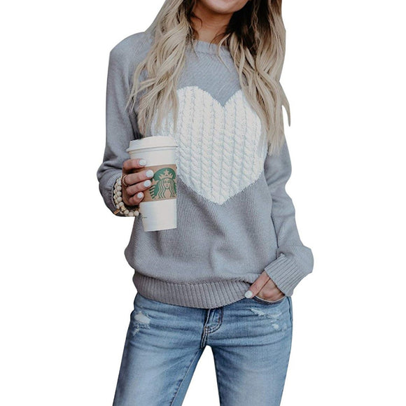 Autumn Sweater Casual Street Clothes Moderate Knitting Pullover Lady Sweater Plus Size - Layon&Loli