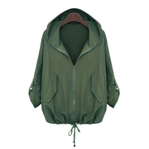 Army Green Jacket Women Long Sleeve  Jackets Coat 2019 casaco - layanestore.myshopify.com-[product_type]