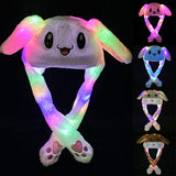 Funny Hat Women Men Kids Lighting Hat Cute Rabbit Ears Plush Ears - Layon&Loli